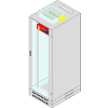 IT rack cabinets conforming to IP40 air-tightness standard fitted with automatic air-tightening unit and extinguishing system based on AGC Master and AGC Slave Extinguishing Apparatuses